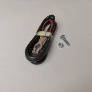 "Black battery cable, 4 gauge, 48"" long. Top post."
