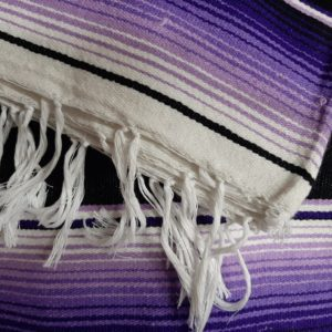 Mexican blanket purple-black-white